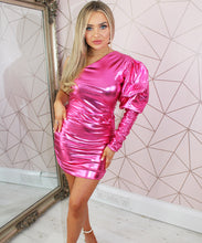 Metallic Ruched Lurex Dress