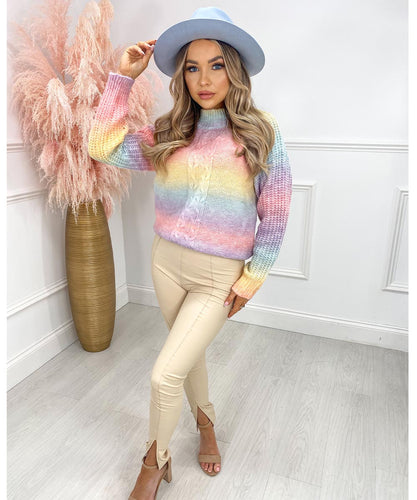 Multi-Colour Knit Jumper