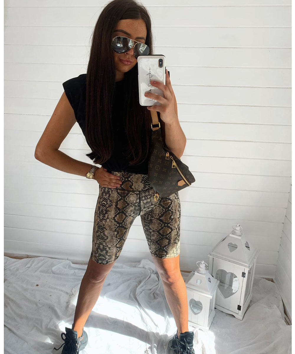 Snake Print Cycling Short