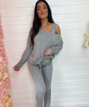 BELLA Grey Three Piece Vest Lounge Set