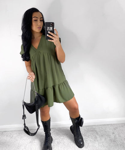 Khaki Swing dress