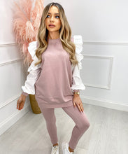 Cold Shoulder Lounge Set In Pink