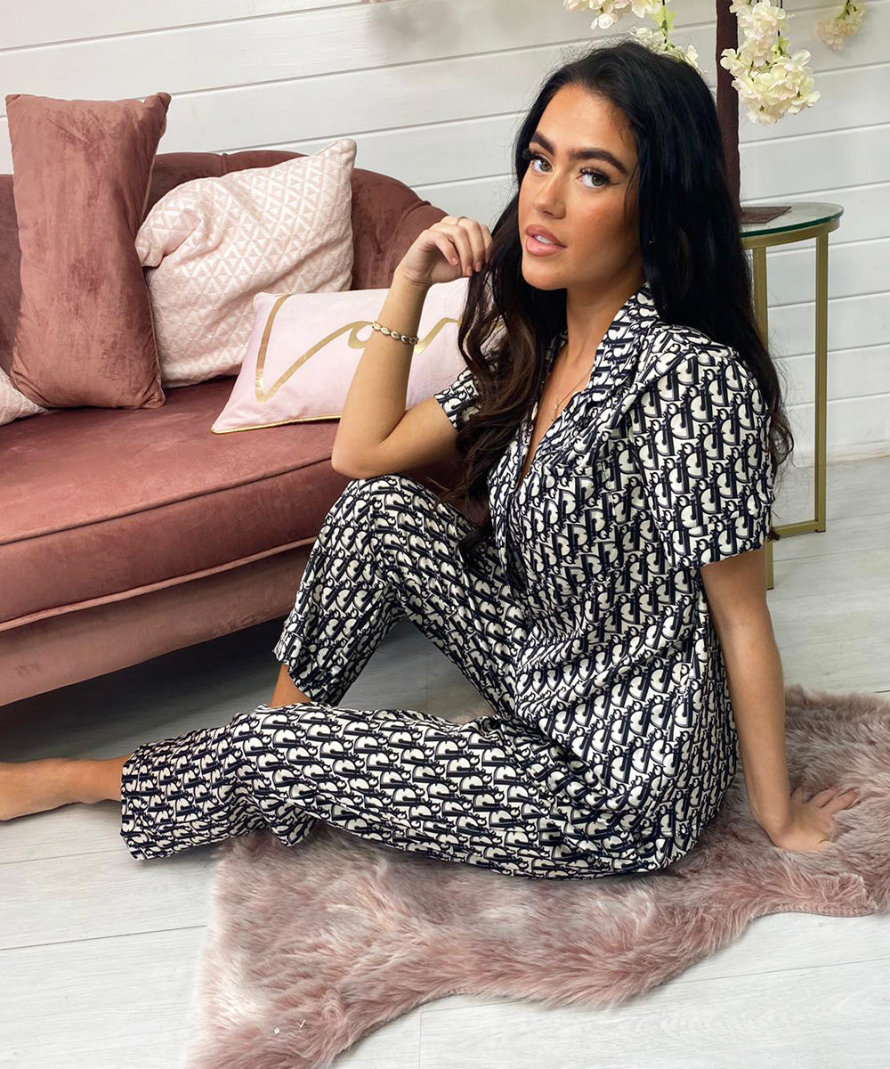 FB Nightwear Collection Trouser - Black & White