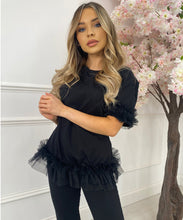 Tutu Hem Lounge Set In Black
