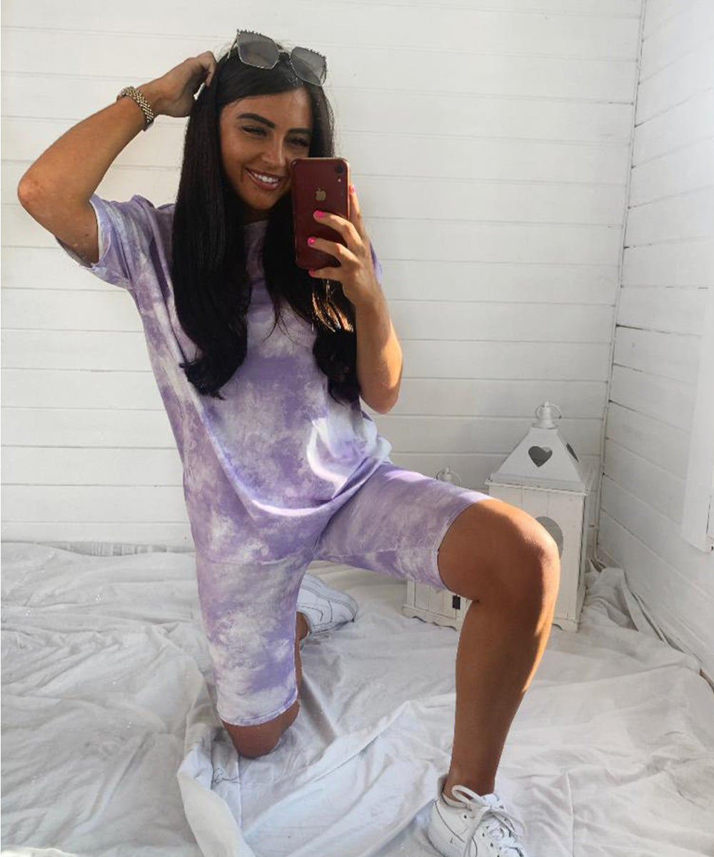 Purple & White Tie Dye Set