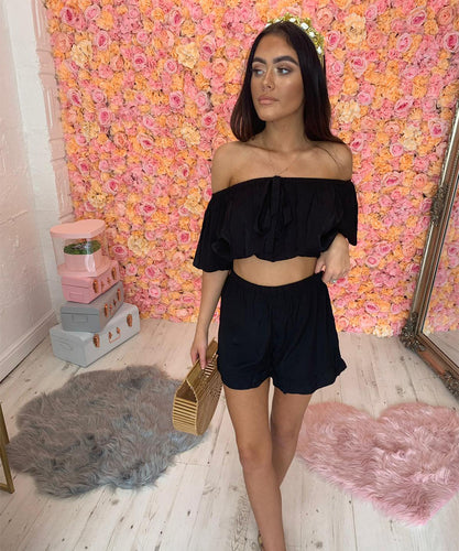 Off The Shoulder Short Co-Ord