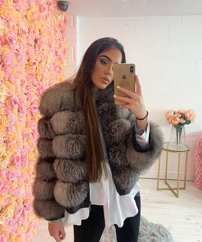 Silver Five Row Fur Coat