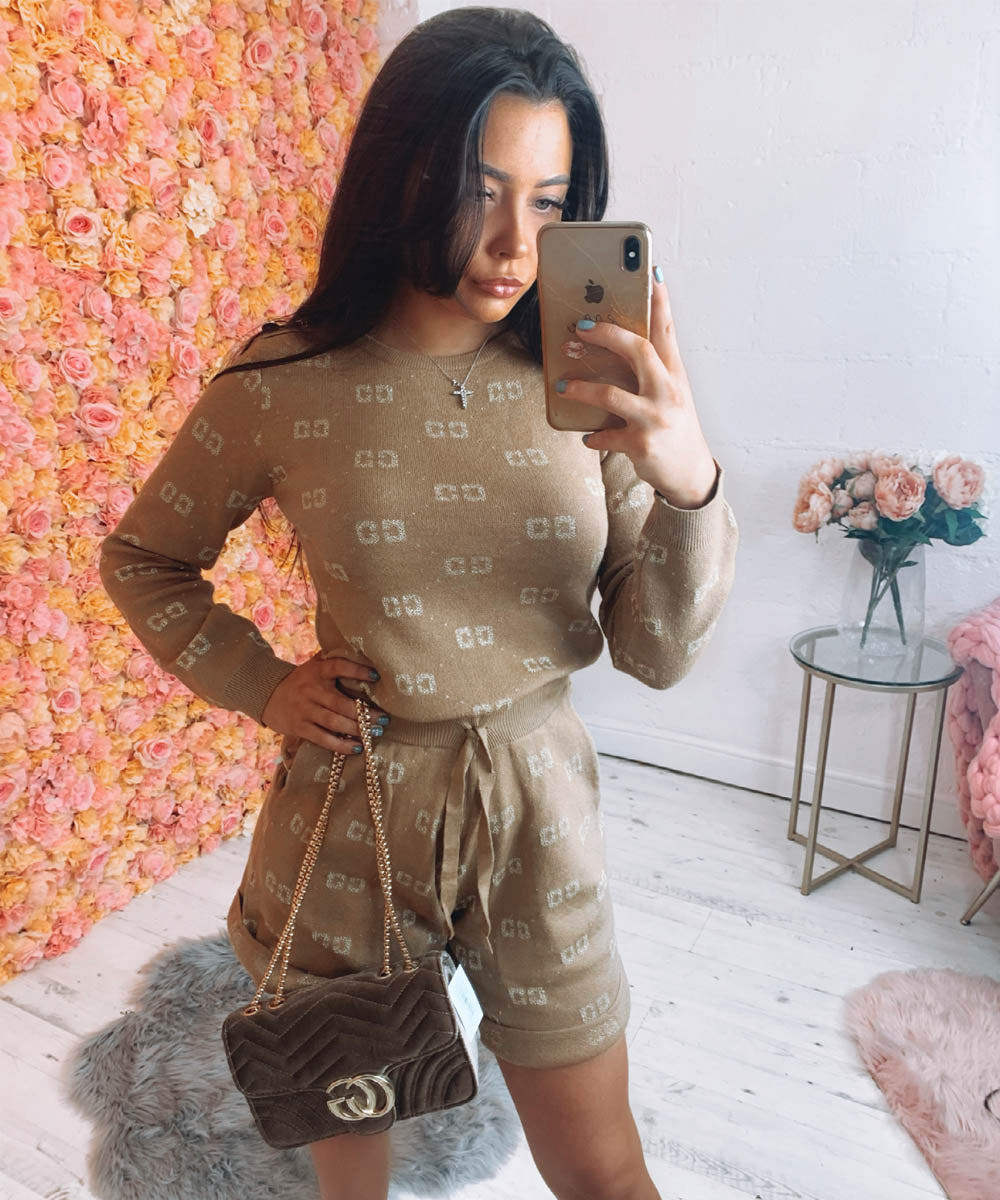 Logo Pattern Short Co-Ord