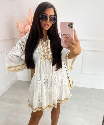 Lace Dress In White