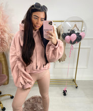High Quality Thick Knit Hoody In Pink