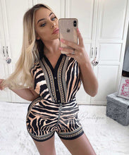 Sleeveless Zebra Print Short Set