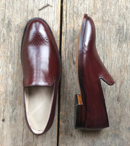 leather404 Clothing, Shoes & Accessories:Men's Shoes:Dress Shoes usa-7 Mn's Loafers Leather Brown Slip On Brogue Shoes