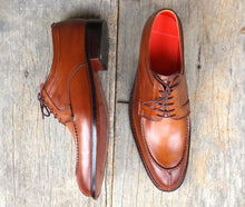 leather404 Clothing, Shoes & Accessories:Men's Shoes:Dress Shoes Handmade Brown Split Toe Leather Lace Up Shoes For Men's