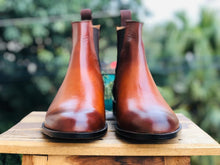 leather404 Clothing, Shoes & Accessories:Men's Shoes:Boots 2 Tone Tan Chelsea Leather Boot For Men's