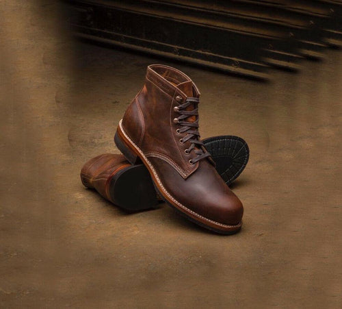 leather404 Clothing, Shoes & Accessories:Men's Shoes:Boots 8 Handmade Ankle High Hand Panted Boots Men's Digger Casual Boots