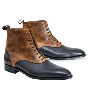 leather404 Clothing, Shoes & Accessories:Men's Shoes:Boots 8 Handmade Black Brown Ankle Boot, Formal Dress lace up Leather Boots
