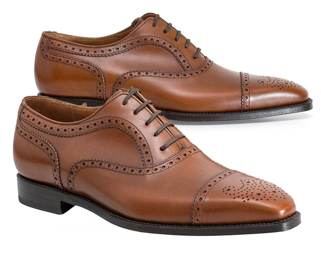 leather404 Clothing, Shoes & Accessories:Men's Shoes:Dress Shoes 8 Oxford Brogue Cap Toe Leather Shoes, Handmade, Shoes For Men, Dress Shoes