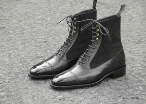 leather404 Clothing, Shoes & Accessories:Men's Shoes:Boots 8 Men genuine Leather British Pointy toe Chelsea Boots Cuban heels typ dress shoes
