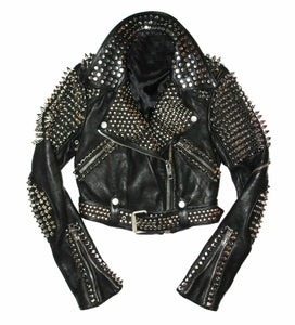 leather404 Clothing, Shoes & Accessories:Men's Clothing:Coats & Jackets S Men Studded Leather Jacket, Men motorcycle Rock Punk jacket, Punk Jacket Men