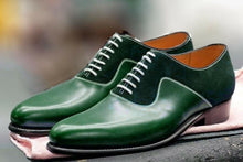 leather404 Clothing, Shoes & Accessories:Men's Shoes:Dress Shoes Handmade Green Leather And Suede Shoes, Oxford Designer Shoes, Dress Formal Shoe