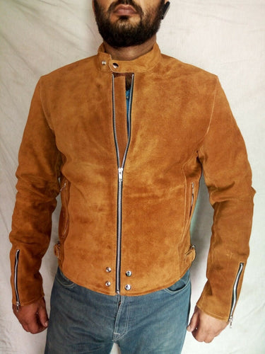 leather404 Clothing, Shoes & Accessories:Men's Clothing:Coats & Jackets S Men's Biker Suede Leather Jackets, Motorbike Leather Jacket