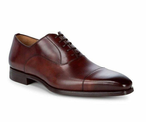 leather404 Clothing, Shoes & Accessories:Men's Shoes:Dress Shoes 8 Mens Burgundy Cap Toe Shoes, Office Dress Shoes, Formal Business Shoes