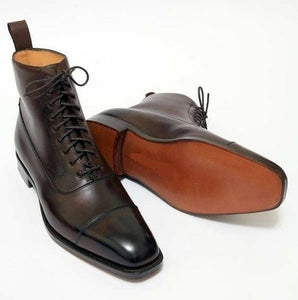 leather404 Clothing, Shoes & Accessories:Men's Shoes:Boots 8 Men brown genuine leather Boots, Dress boot Men brown ankle leather boot