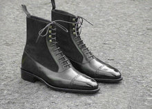 leather404 Clothing, Shoes & Accessories:Men's Shoes:Boots Men genuine Leather British Pointy toe Chelsea Boots Cuban heels typ dress shoes