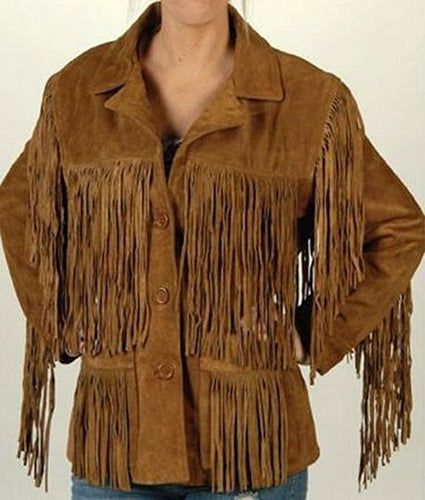 leather404 Clothing, Shoes & Accessories:Men's Clothing:Coats & Jackets S Fringe Suede Leather Jackets, Fringe Jacket, Cow Boy jacket, Men's western Jacket