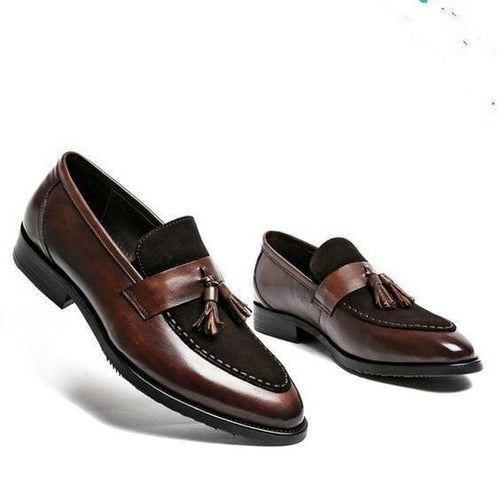 leather404 Clothing, Shoes & Accessories:Men's Shoes:Dress Shoes 8 Men's Handmade Superb Leather and Suede Shoes with Tassels, Men dress shoes