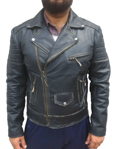 leather404 Clothing, Shoes & Accessories:Men's Clothing:Coats & Jackets S Men's Black Black Leather Jacket, Rub Off Leather Jacket,Casual Leather Jacket