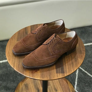 leather404 Clothing, Shoes & Accessories:Men's Shoes:Dress Shoes 8 Handmade Men's Brown suede Dress Shoes Formal shoes