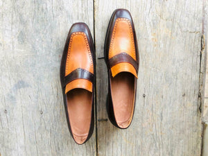 leather404 Clothing, Shoes & Accessories:Men's Shoes:Dress Shoes Handmade Men's Loafer Shoes Brown Tan leather Loafer Shoes