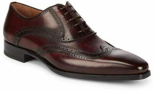 leather404 Clothing, Shoes & Accessories:Men's Shoes:Dress Shoes 8 Wing Tip Brown Shoes, Office Shoes Dress Formal Business Shoes, Men Shoes