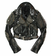 leather404 Clothing, Shoes & Accessories:Men's Clothing:Coats & Jackets Men Studded Leather Jacket, Men motorcycle Rock Punk jacket, Punk Jacket Men