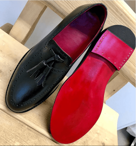leather404 Clothing, Shoes & Accessories:Men's Shoes:Dress Shoes usa-7 Men's Loafers Shoes Men's Black Leather Slip On Tussles Stylish Shoes