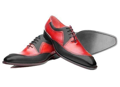 leather404 Clothing, Shoes & Accessories:Men's Shoes:Dress Shoes usa-7 Men's Red Black Casual Leather Shoes