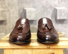 leather404 Clothing, Shoes & Accessories:Men's Shoes:Dress Shoes Handmade Brown Leather Loafers Split Toe Tussles Men's Shoes