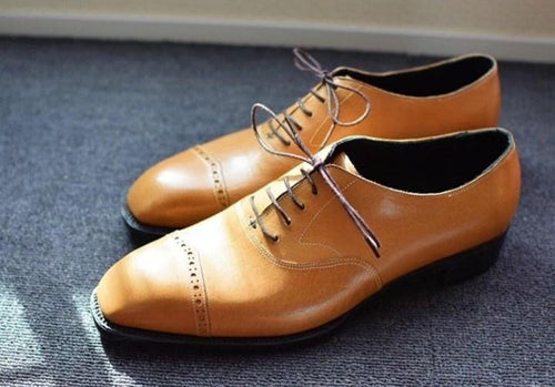 leather404 Clothing, Shoes & Accessories:Men's Shoes:Dress Shoes Men's Tan Leather Stylish Shoes