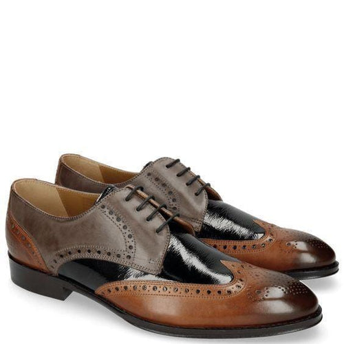 leather404 Clothing, Shoes & Accessories:Men's Shoes:Dress Shoes usa-7 Men's two Tone Brown Black Wing Tip Brogue Shoes