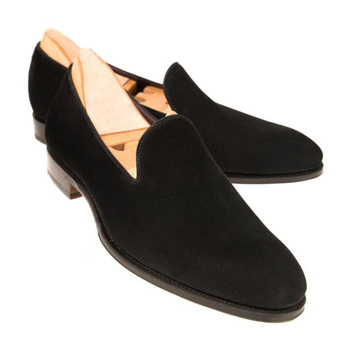 leather404 Clothing, Shoes & Accessories:Men's Shoes:Dress Shoes Black Slip On suede Shoes