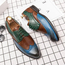 leather404 Clothing, Shoes & Accessories:Men's Shoes:Dress Shoes Multi Color Wing Tip Brogue Leather Lace Up Men's Shoes