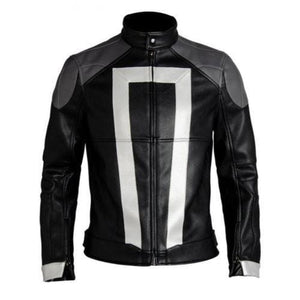 leather404 Clothing, Shoes & Accessories:Men's Clothing:Coats & Jackets s Ghost Rider Leather Jacket Agents Of Shield Season 4 Robbie Reyes Biker Jackets