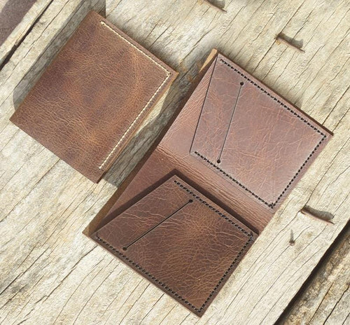 leather404 wallet Handmade PERSONALIZED Leather WALLET, Leather Men's Bi-Fold Pocket Wallet, Card Holder, Gift Wallet, Hand Stitched - Listing # 2030