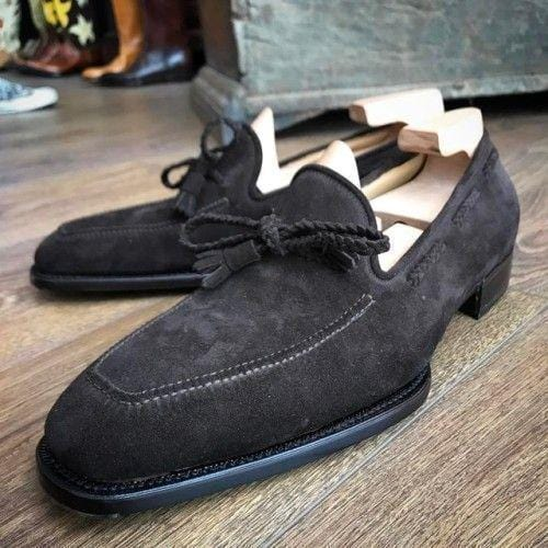 leather404 Clothing, Shoes & Accessories:Men's Shoes:Dress Shoes Black Suede Slippers