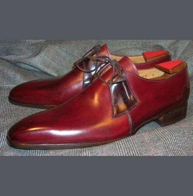 leather404 Clothing, Shoes & Accessories:Men's Shoes:Dress Shoes Burgundy Leather Casual Lace Up Shoes For Men's