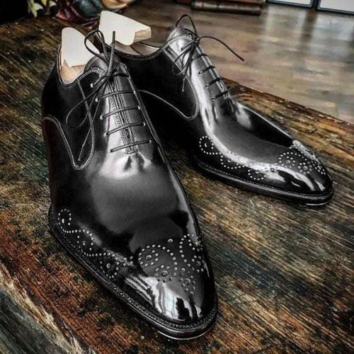 leather404 Clothing, Shoes & Accessories:Men's Shoes:Dress Shoes Handmade brogue black Leather Formal Shoes, Men Designer Oxford Dress shoes