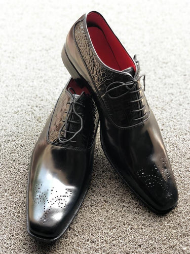 leather404 Clothing, Shoes & Accessories:Men's Shoes:Dress Shoes Handmade Black Alligator Shoes For Men