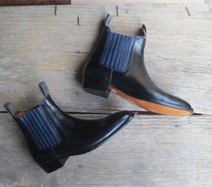 leather404 Clothing, Shoes & Accessories:Men's Shoes:Boots 11.5 Black Chelsea Leather Boot