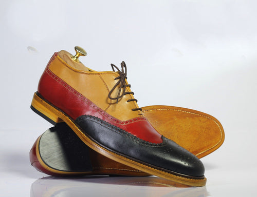 leather404 Clothing, Shoes & Accessories:Men's Shoes:Dress Shoes Handmade Multi Color Wing Tip Leather Men's Shoes